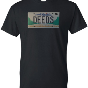 The Deeds Licence Plate T Shirt